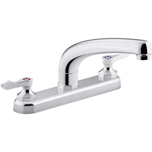 1.5 gpm Triton Bowe 1.8 gpm Kitchen Sink Faucet with 8-316 In. Swing Spout Aerated Flow and Lever Handles by Kohler Kohler