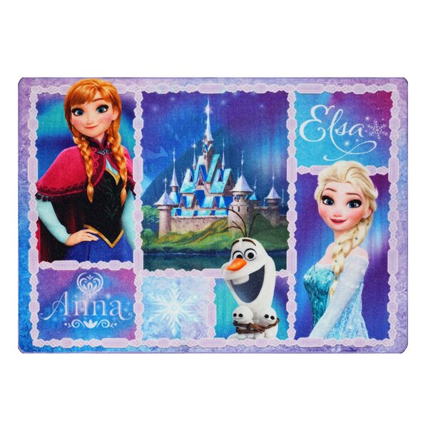 Disney Frozen Polyester Blue Kids Rug by G.A. Gertmenian & Sons