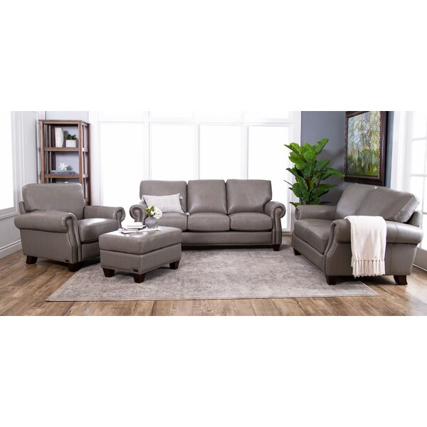 Carthage 4 Piece Leather Living Room Set by Darby Home Co