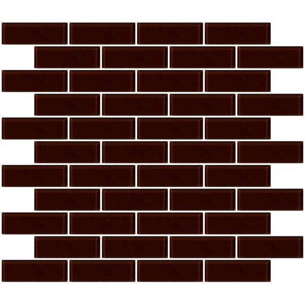 1 x 3 Glass Subway Tile in Glossy Brown by Susan Jablon