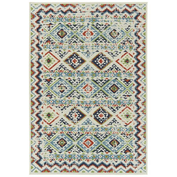 Olin Ivory Indoor/Outdoor Area Rug by Bungalow Rose