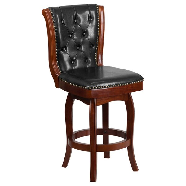 Glea Counter Height 26.75 Swivel Bar Stool by Darby Home Co