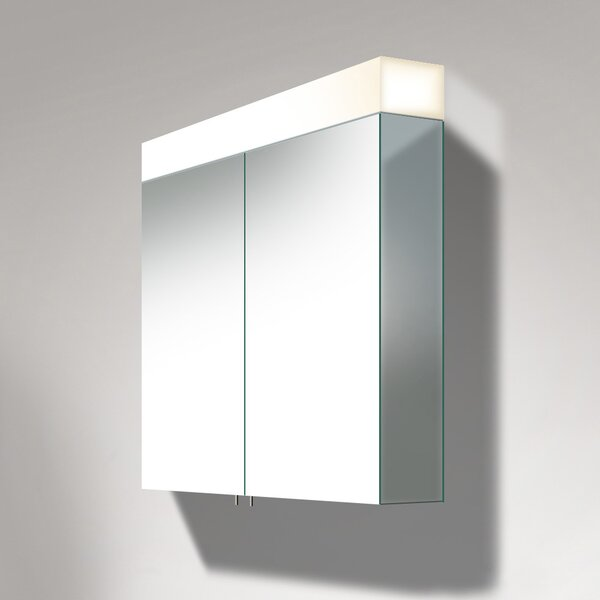 Delos 29.88 x 47.25 Surface Mount Medicine Cabinet with LED Lighting by Duravit