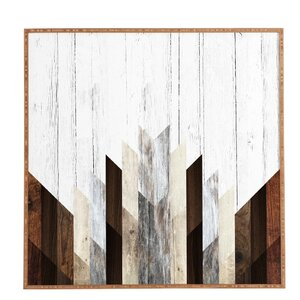 'Geo Wood 3' Framed Graphic Art by East Urban Home