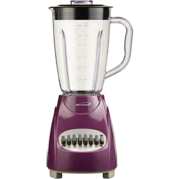 12 Speed Blender with Plastic Jar by Brentwood Appliances
