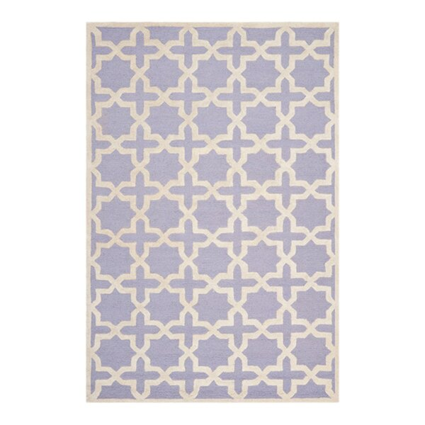 Harbin Hand-Tufted Wool Lavender/Ivory Area Rug by Brayden Studio