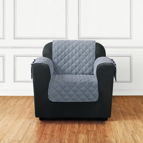 Quilted Pet Box Cushion Armchair Slipcover by Sure Fit