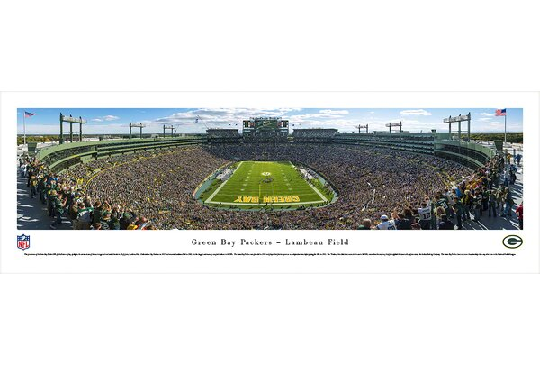 NFL Green Bay Packers - End Zone Photographic Print by Blakeway Worldwide Panoramas, Inc