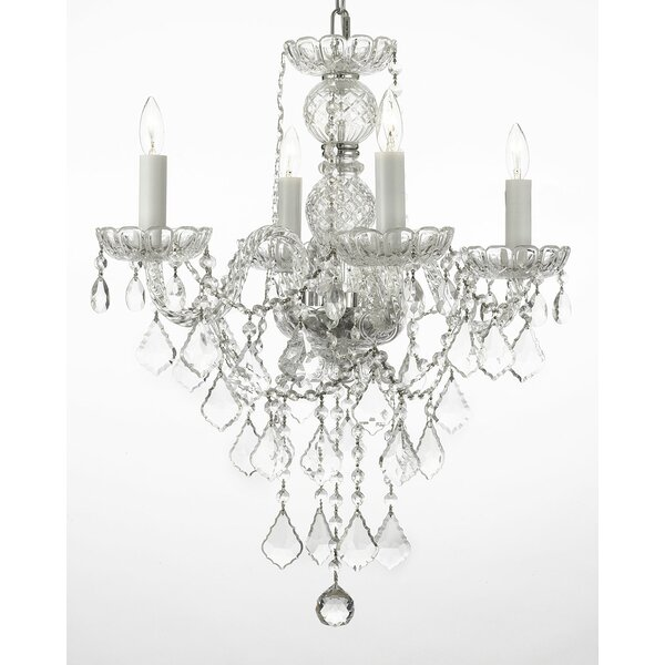 Keeton 4 - Light Candle Style Classic / Traditional Chandelier By House Of Hampton