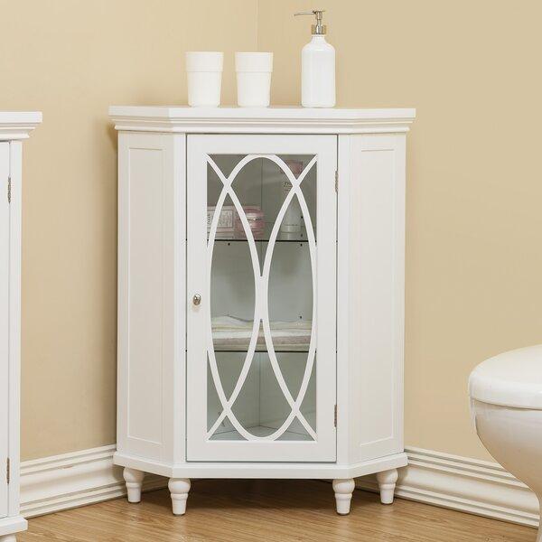 Bourbon Corner Floor 24.75 W x 32 H Cabinet by Elegant Home Fashions