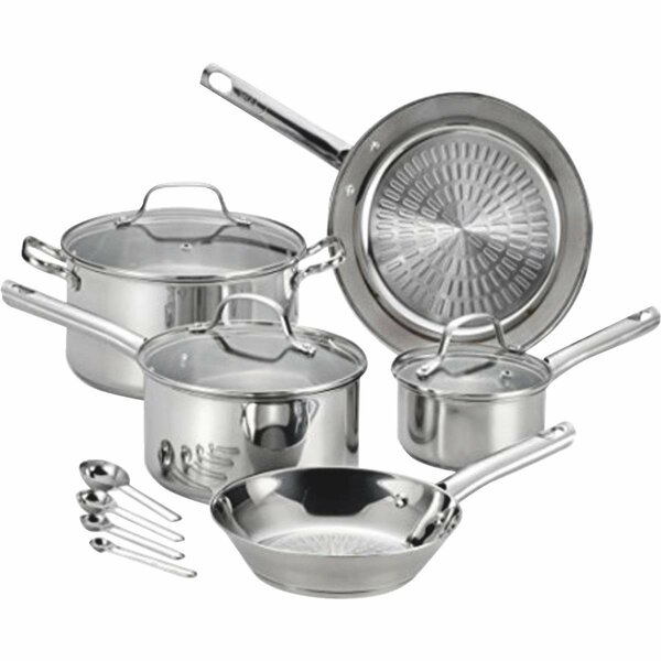 Performa 12-Piece Stainless Steel Cookware Set by T-fal