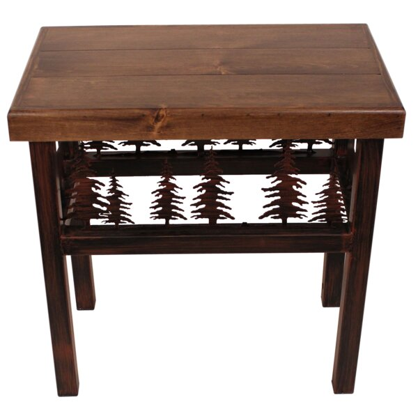 Nadia Bear/Feather End Table by Millwood Pines