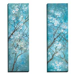 Carolina Spring II by Vera Hills 2 Piece Painting Print on Wrapped Canvas Set by Portfolio Canvas Decor
