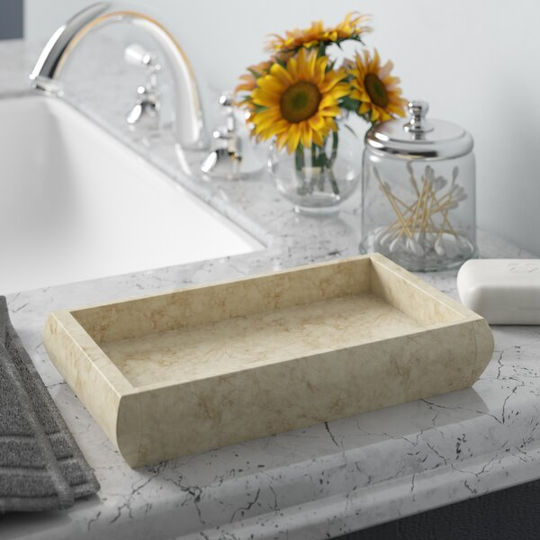 Jolley Marble Deluxe Bathroom Accessory Tray by Charlton Home