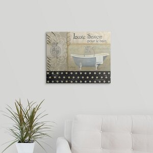 'Savons de Bains I' by Avery Tillmon Graphic Art on Wrapped Canvas by Great Big Canvas