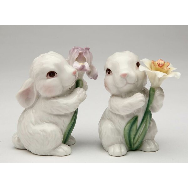 Easter Bunny 2 Piece Salt & Pepper Set by Cosmos Gifts