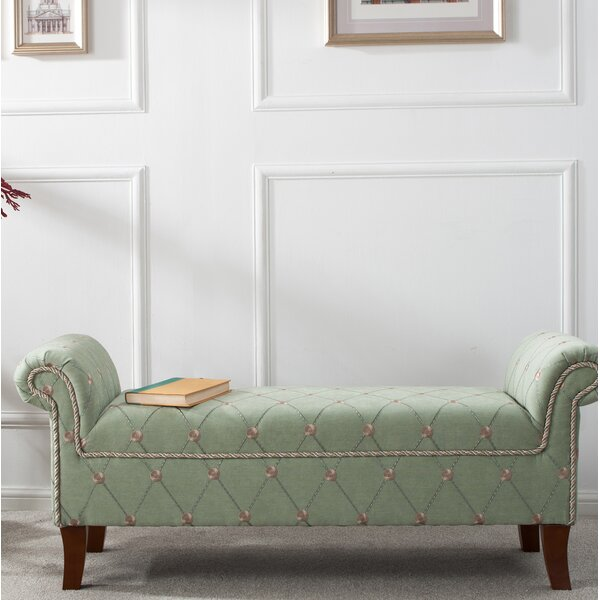 Yates Polyster Bench by House of Hampton