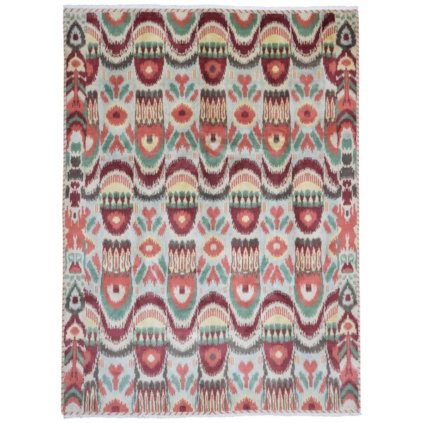 Dunsmuir Hand Woven Wool Beige/Green/Red Area Rug by Bungalow Rose