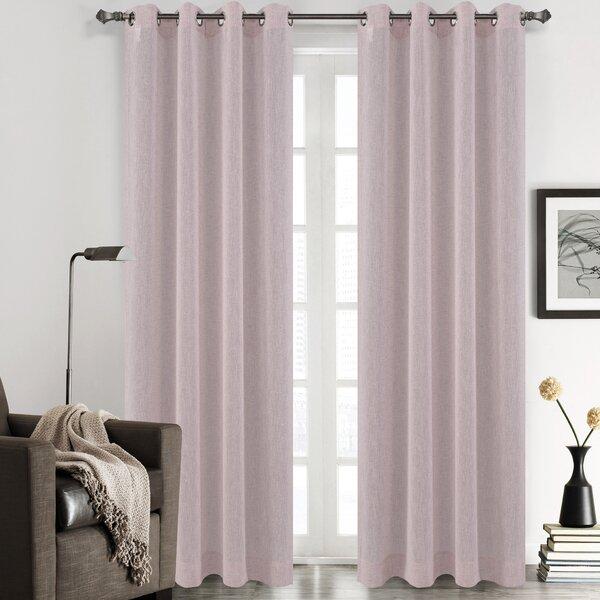 Chloe Solid Sheer Grommet Curtain Panels (Set of 2) by Urbanest