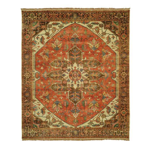 Jules Serapi Kashan Gold/Terracotta Area Rug by Shalom Brothers