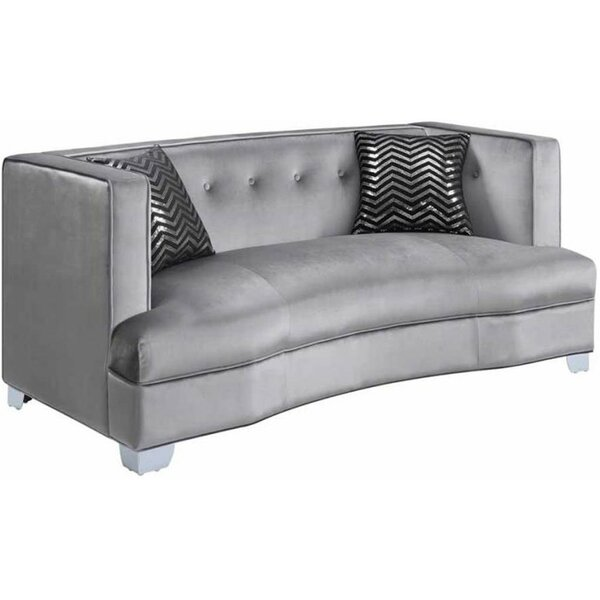 Petrie Curved Loveseat By Mercer41