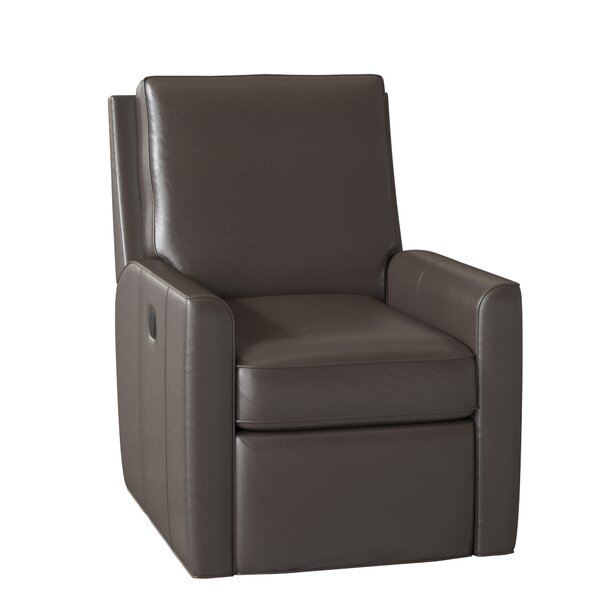 Yorba Leather Power Wall Hugger Recliner By Bradington-Young