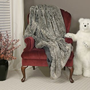 Grey Mist Throw by Queens of Christmas