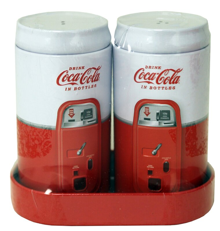 Coke 3-Piece Galvanized Salt and Pepper Set