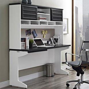 Buy clear Elizabeth Desk Executive Desk with Hutch ByLatitude Run