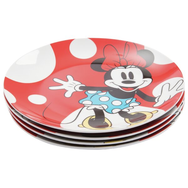 Disney Minnie Mouse Ceramic 10.5 Dinner Plate (Set of 4) by Vandor LLC