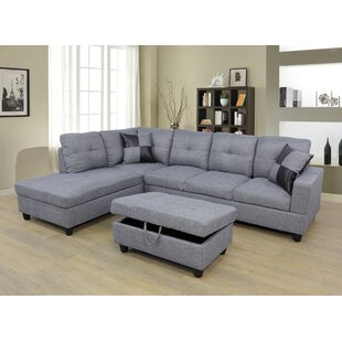 Coke Sectional with Ottoman