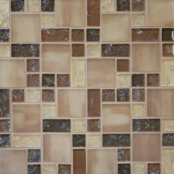 Crinkle Random Sized Glass Mosaic Tile in Sand by Grayson Martin