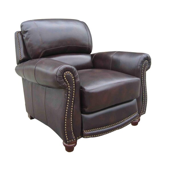 Dorcas Leather Manual Recliner by Canora Grey