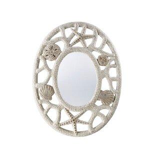 Highland Dunes Philippa Seashell Accent Mirror