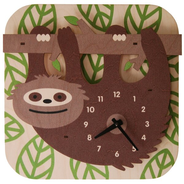 Sloth Wall Clock by Modern Moose