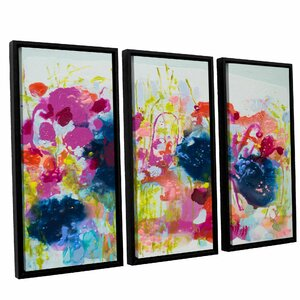 July Heat 3 Piece Framed Painting Print Set by Latitude Run