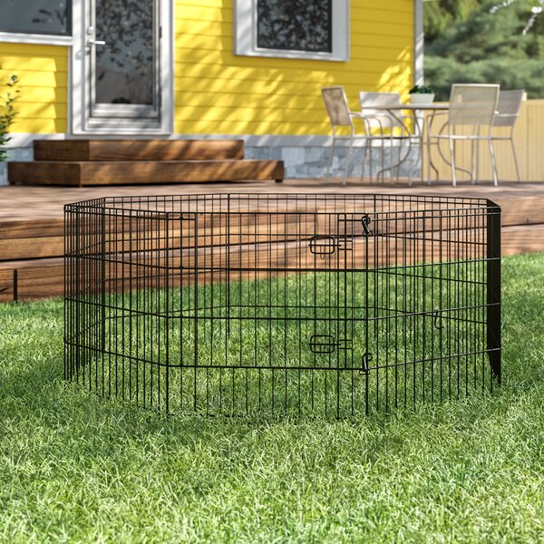 Denver Black E-Coat Exercise Pet Pen by Archie & Oscar