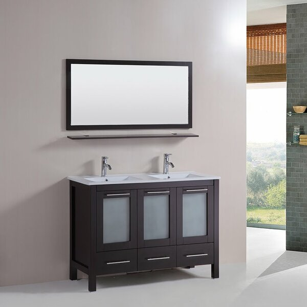 48 Double Bathroom Vanity Set with Mirror by Kokols