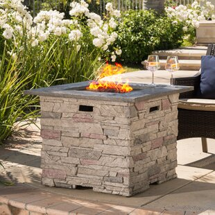 Bargain Stafford Stone Propane Fire Pit Table ByLoon Peak