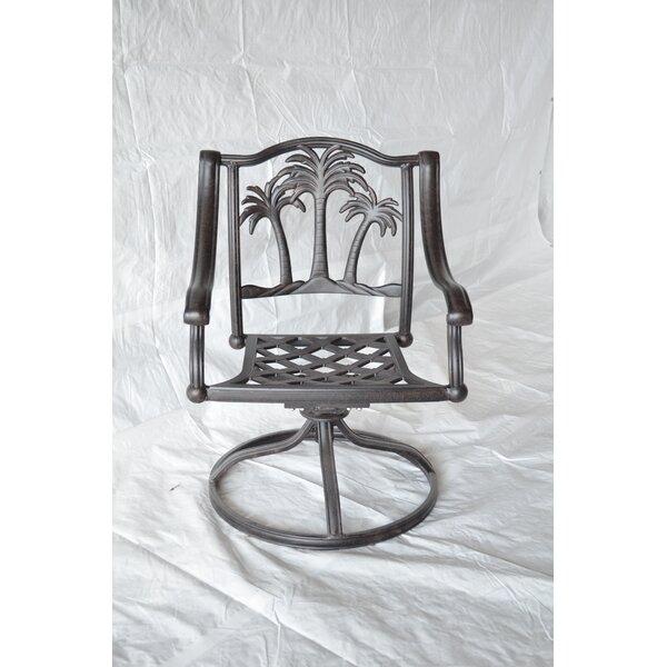 Maccharles Swivel Patio Dining Chair with Cushion by Bayou Breeze Bayou Breeze