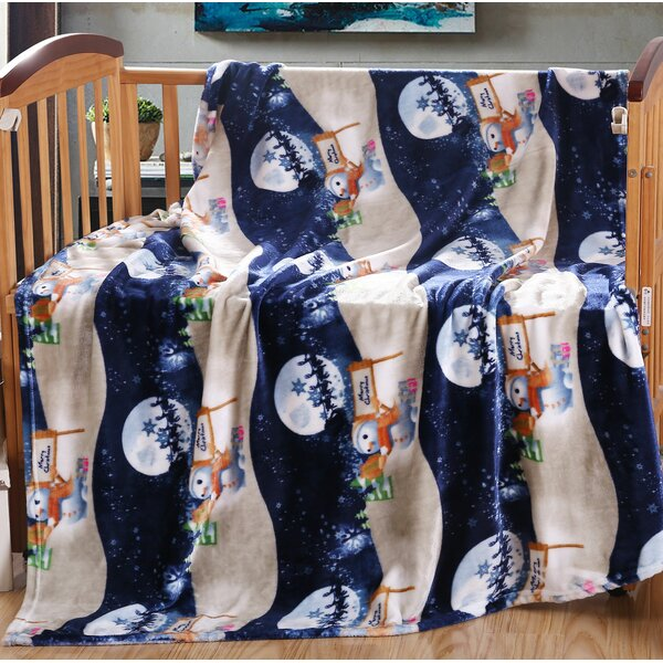 Vivian Stockings and Ornaments Holiday Fleece Throw by The Holiday Aisle