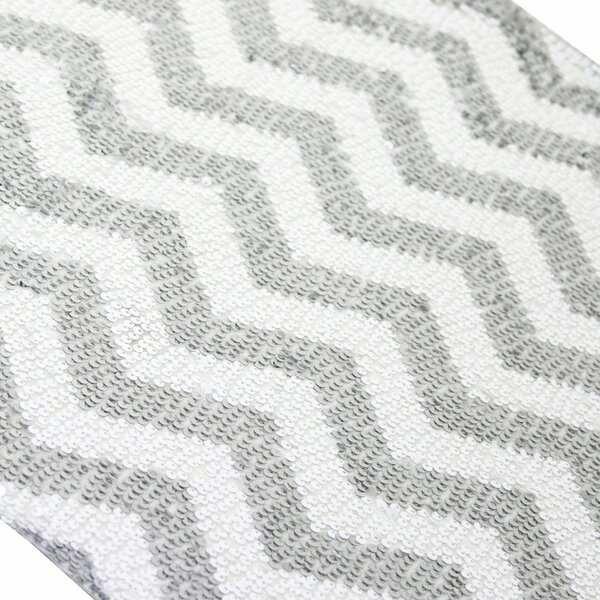 Sequin Chevron Table Runner by Koyal Wholesale