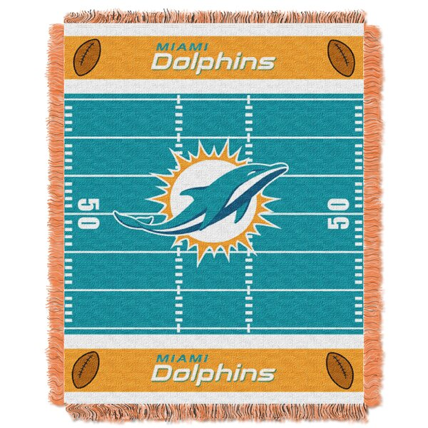 NFL Dolphins Field Baby Blanket by Northwest Co.