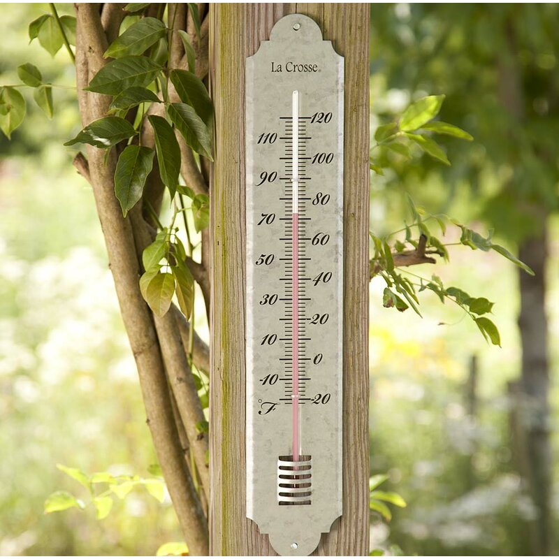 Wind & Weather Large Galvanized Metal Thermometer | Wayfair