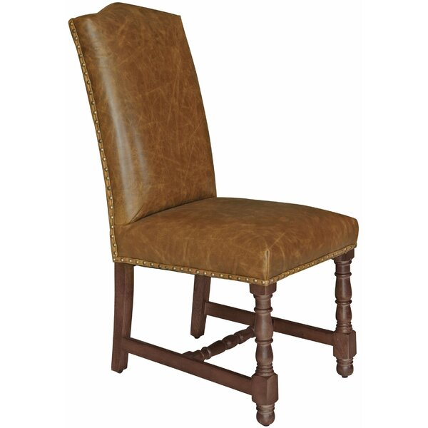 Mistretta Genuine Leather Upholstered Dining Chair by Canora Grey Canora Grey