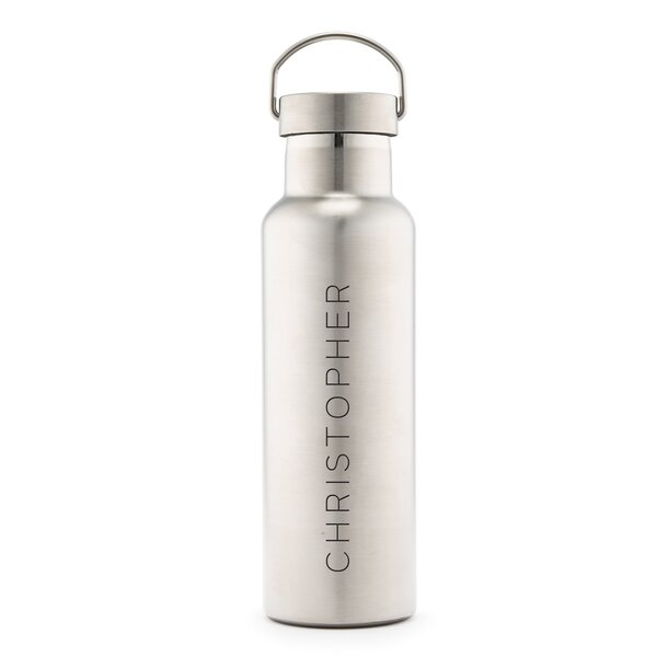 Sayler Contemporary Vertical Line Print Personalized 25 oz. Stainless Steel Water Bottle by Ebern Designs
