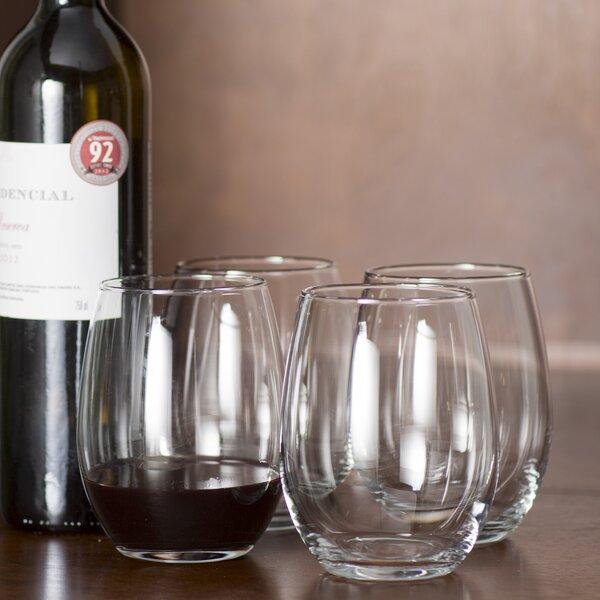 Lagarto Stemless Glass 21 oz. Red Wine Glass (Set of 4) by Langley Street