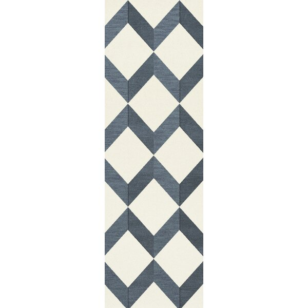 Lela Blue/White Area Rug by Brayden Studio