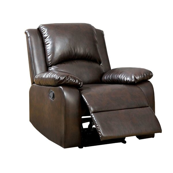 Yamanda Leather Manual Recliner Red Barrel Studio RDBA2898