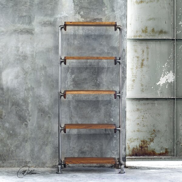 Cairo Industrial Etagere Bookcase by 17 Stories